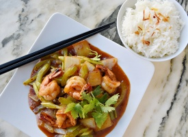 Sweet and Sour Tamarind Shrimp