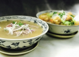 Rare beef Noodle Soup